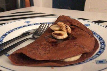 crepes con chocolate y plátano